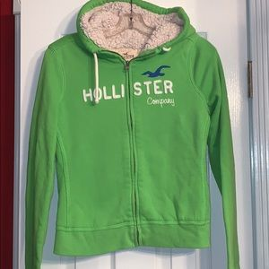 Hollister Zip Hoodie fully lined Sized M